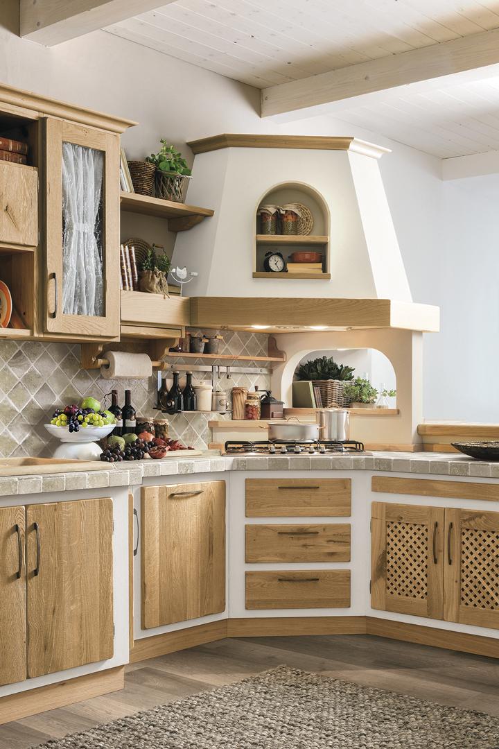 Rebecca Rovere naturale - Borgo Antico Cucine - Gruppo Lube