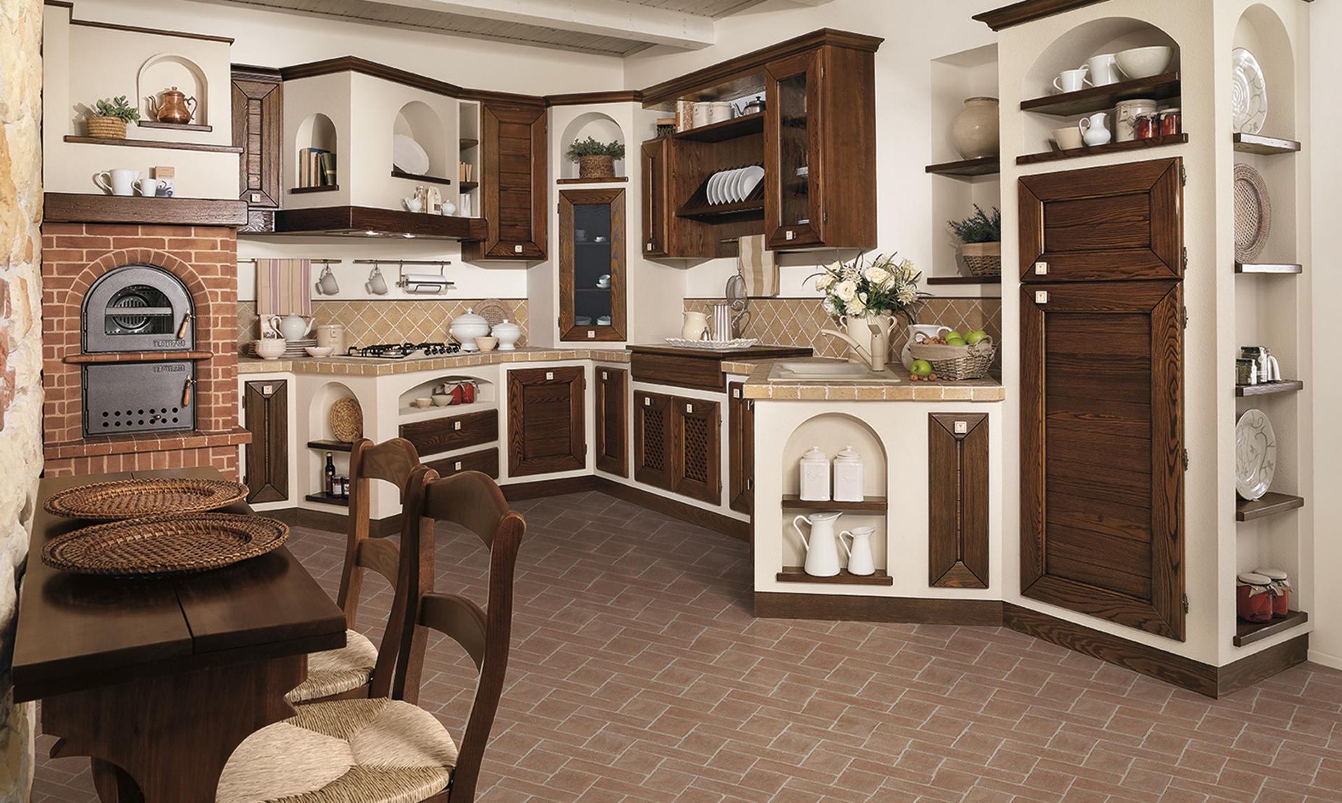 Luisa Rustic white - Borgo Antico Kitchens - The LUBE Group