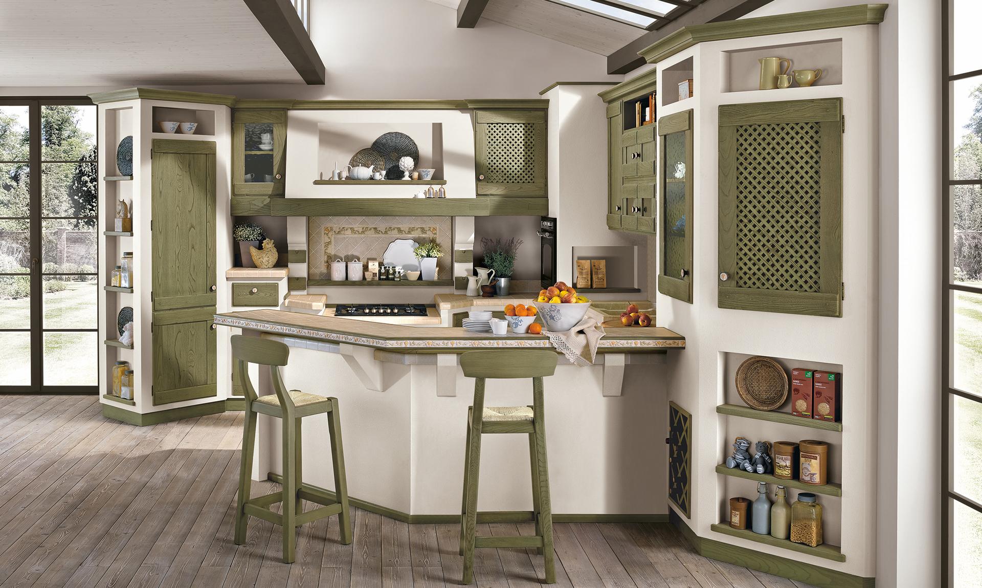 Anita Antique white - Borgo Antico Kitchens - The LUBE Group